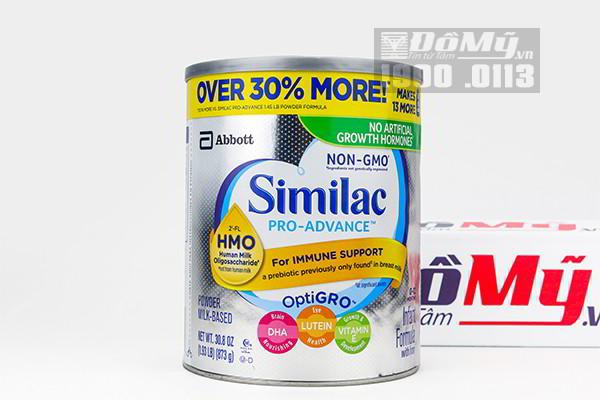 Sữa bột Similac Pro Advanced HMO Non – GMO dành cho bé từ 0-12 tháng 873g của Mỹ