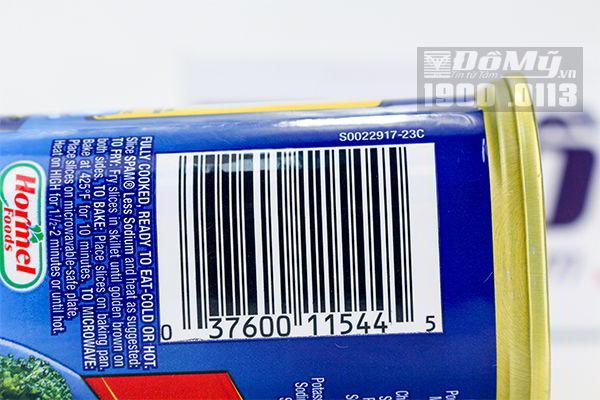 Thịt đóng hộp Spam 25% Less Sodium (340g)