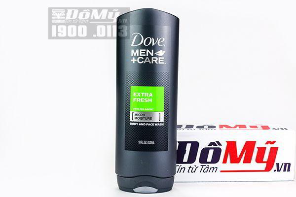 Sữa tắm và rửa mặt Dove Men Care Extra Fresh 532ml nhập từ Mỹ