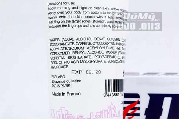 Kem tan mỡ bụng Sampar 200ml của Pháp
