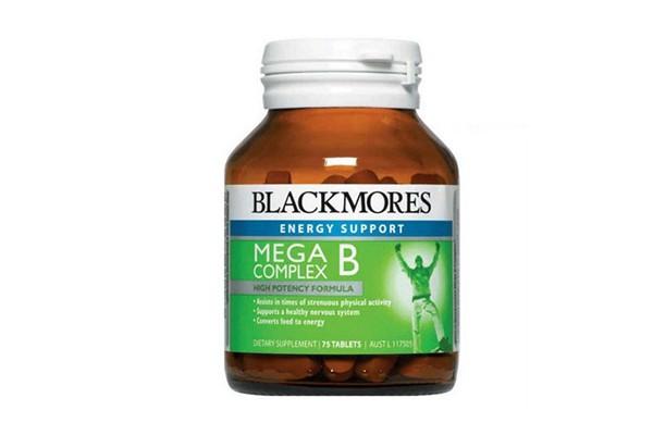Viên uống bổ sung vitamin nhóm B Blackmores Mega B Complex 75 viên