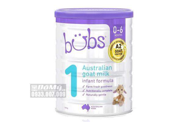 Sữa dê Bubs Goat Infant Formula cho bé từ 0 - 6 tháng tuổi số 1 800g của Úc