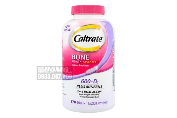Viên uống Bổ sung Canxi, D3 và khoáng chất với Caltrate 600 + D3 Plus Minerals 320 viên của Mỹ