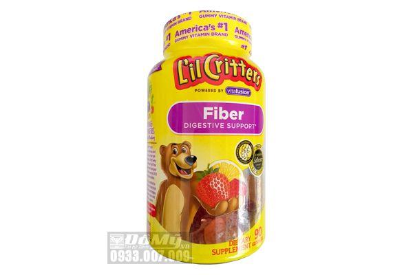 Kẹo dẻo Gummy Fiber cho bé L'il Critters hỗ trợ bổ sung chất xơ 90 viên của Mỹ