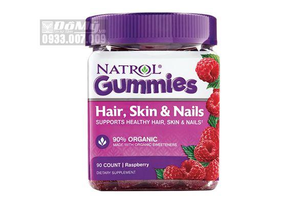 Kẹo dẻo Natrol Gummies Hair, Skin & Nails 90 viên của Mỹ