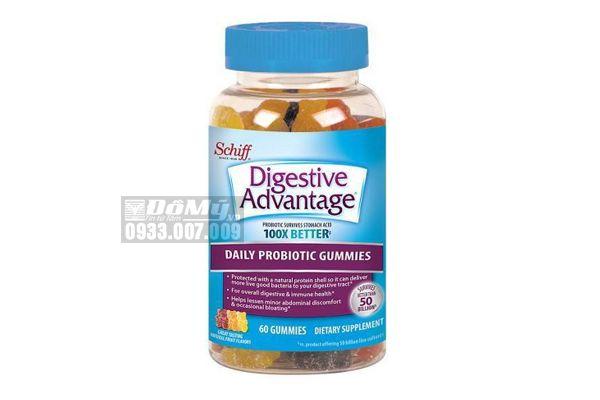 Kẹo dẻo hỗ trợ tiêu hóa Schiff Digestive Probiotic 120 viên-Mỹ