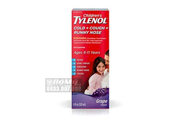 Siro Giảm Đau, Hạ Sốt Tylenol 120ml cho bé 6-11 tuổi