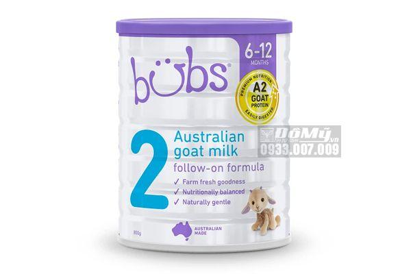 Sữa dê Bubs Goat Follow-on Formula cho bé từ 6 - 12 tháng tuổi số 2 800g của Úc