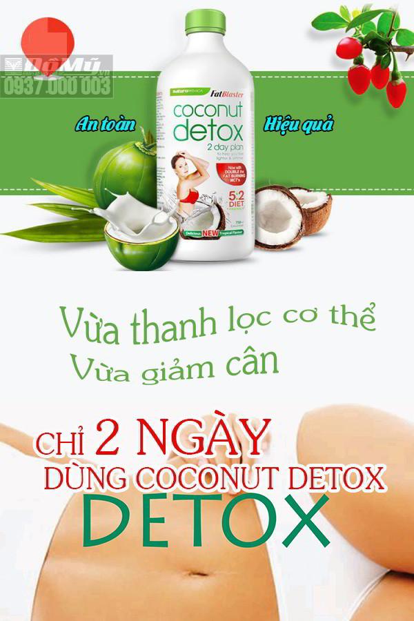 Giảm Cân Hiệu Quả Cùng Coconut Detox 750ml từ ÚC, an toàn hiệu quả