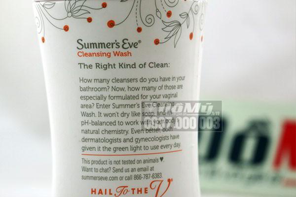 Nước rửa phụ khoa Summer's Eve Cleansing Wash 266ml của Mỹ
