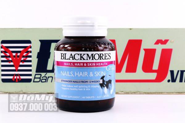 Vitamin cho tóc, móng và da Blackmores Nails Hair And Skin 60 viên của Úc