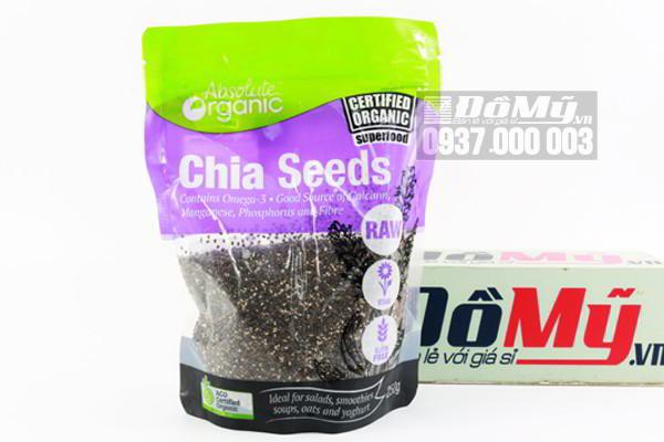 Hạt chia Úc Absolute Organic Chia Seeds 250g của Úc