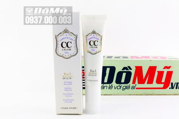 Kem trang điểm Etude House CC Cream  Silky 8 in 1 Multi – Function SPF 30/ PA++ 35g của Hàn Quốc