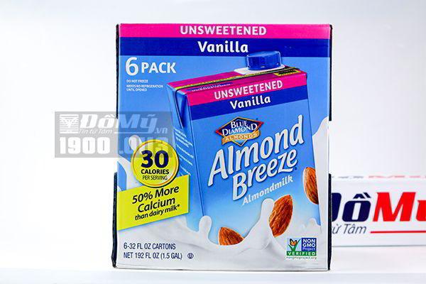 Sữa tươi hạnh nhân Blue Diamond hương vani 946ml x 6 hộp