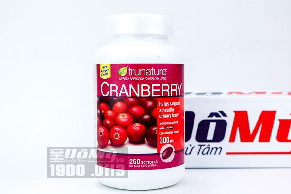 Viên uống chống viêm tiết niệu Trunature Cranberry 250 viên