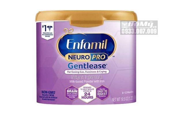 Sữa Enfamil NeuroPro Gentlease dành cho bé đầy hơi khó tiêu 567g của Mỹ
