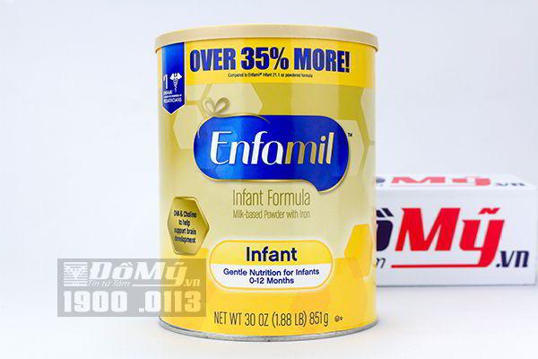 Sữa bột Enfamil Infant Formula Số 1 cho bé từ 0 - 12 tháng tuổi 851g của Mỹ