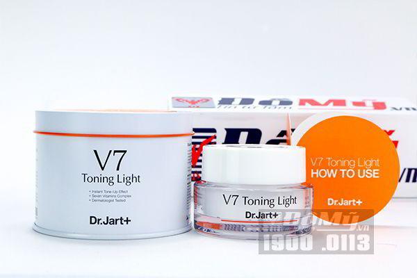 Kem dưỡng tái tạo và trắng da Dr. Jart V7 Toning Light 50ml Hàn Quốc