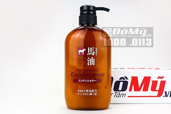 Dầu xả mỡ ngựa Horse Oil Non Silicon 600ml - Nhật