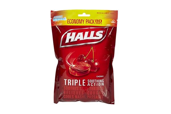 Kẹo ngậm trị ho, đau họng Halls không đường 80 viên của Mỹ