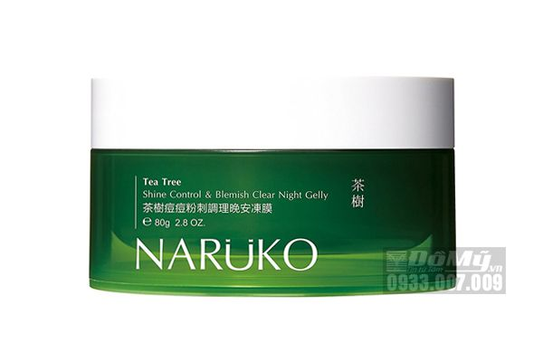 Mặt Nạ Ngủ Naruko Tea Tree Shine Control and Blemish Clear Night Gelly