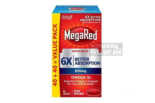 Viên uống Schiff Megared Advanced 6x Better Absorption - 80 viên