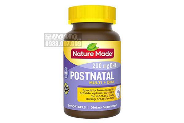 Viên uống bổ sung Vitamin tổng hợp Postnatal Multi DHA cho phụ nữ sau sinh của Mỹ