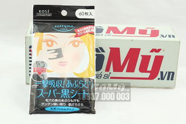 Giấy thấm dầu Kose Softymo than hoạt tính (60 tờ) của Nhật bản