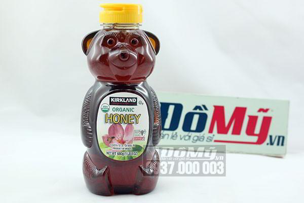 Mật Ong Honey Bear Kirkland Hữu Cơ tinh khiết nguyên chất 680g