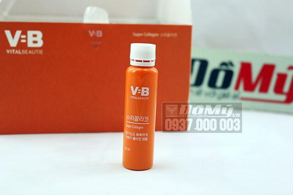 Nước uống VB Vital Beautie Super Collagen thùng 30 chai 20 ml của Hàn Quốc