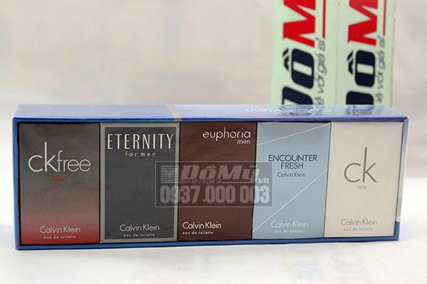 Set nước hoa nam Calvin Klein Gift Set 5 chai của Mỹ