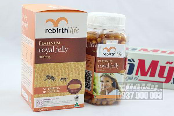Sữa Ong Chúa Rebirth Platinum Royal Jelly 1000 Mg 300 viên Của Úc