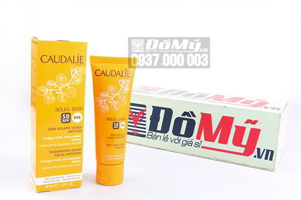 Kem chống nắng chống lão hóa Caudalie Soleil Divin Anti – Ageing Face Suncare SPF 50+ 40ml của Pháp