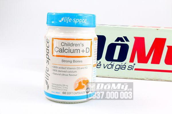 Viên uống bổ sung Canxi cho trẻ Children's Calcium + D 60 viên của Úc