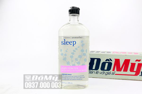 Sữa tắm stress Sleep Night Time Tea Body Wash & Foam Bath 295ml của Mỹ