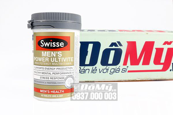 Vitamin tổng hợp cho nam Swisse Men's Power Ultivite 40 viên của Úc