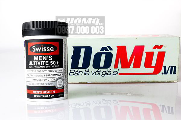 Vitamin tổng hợp cho nam giới Swisse Men's Ultivite Multivitamin 60 viên của Úc