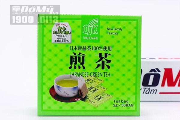 Trà xanh Nhật Bản OSK 100% Japanese Green Tea 50 gói