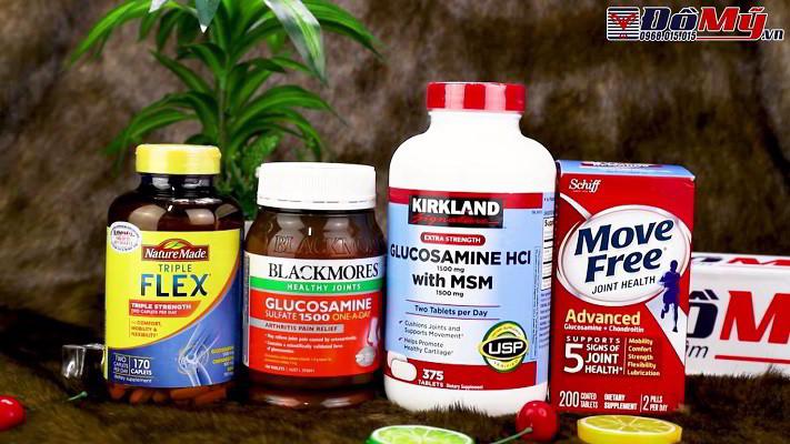 Top 4 thương hiệu Glucosamine  bổ xương khớp chiếm thị phần lớn nhất thế giới.