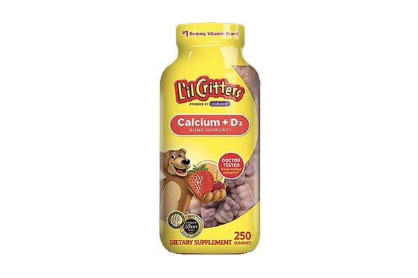 Kẹo dẻo bổ sung canxi Lil Critters Calcium + D3 Gummy Bears 250 viên