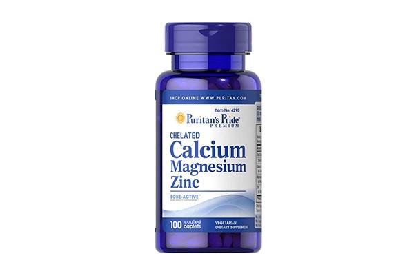 Viên uống bảo vệ xương khớp Puritan's Pride Calcium Magnesium Zinc 100