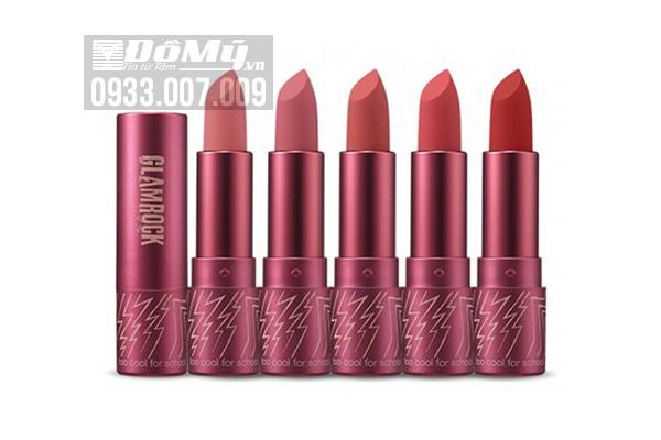 Son thỏi lì Too Cool For School Glam Rock MISTY ROSE Velvet Matte Lipstick