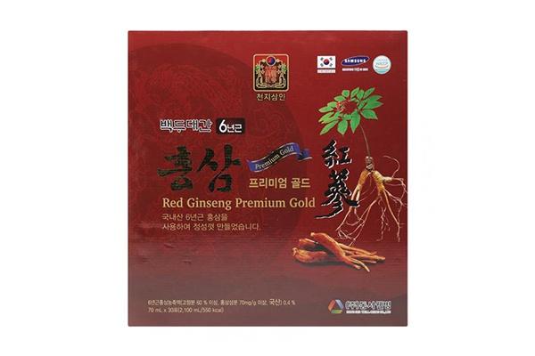 Nước uống hồng sâm 6 năm tuổi Red Ginseng Premium Gold