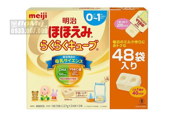 Sữa Meiji 0~1 dạng thanh Nhật Bản – Hộp 24 thanh