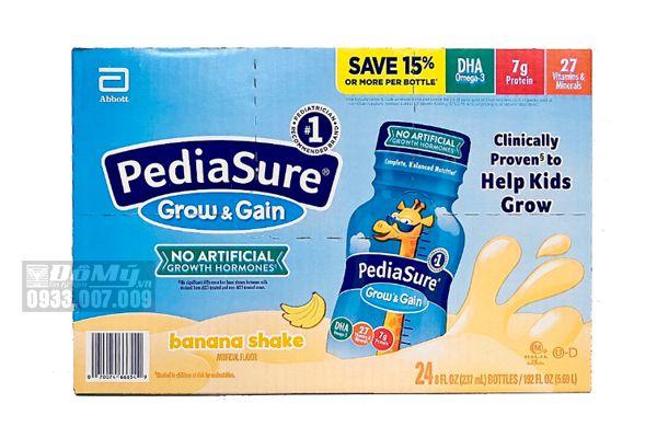 Sữa Pediasure nước 237ml hương chuối (24 chai)