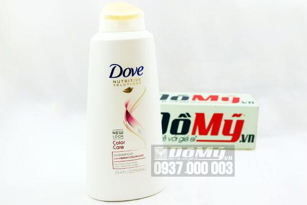 Bộ dầu gội và xả chăm sóc tóc màu của Mỹ Dove Color Care loại 750 ml