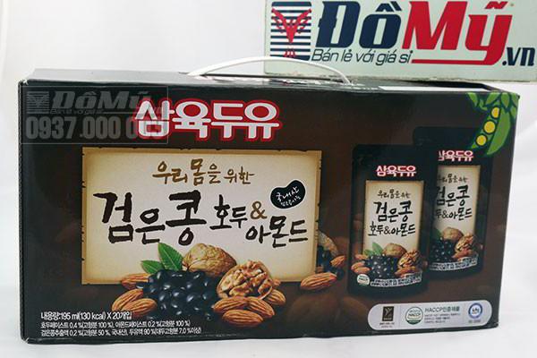 Nước uống tổng hợp từ 3 loại quả óc chó, hạt nhân và đậu đen 20 gói của Hàn Quốc