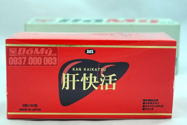 Viên uống bổ gan, Giải Độc Gan Kan Kaikatsu hộp 45g của Nhật Bản