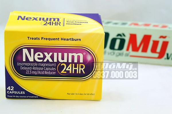 Thực phẩm chức năng giúp hỗ trợ điều trị bệnh viêm loét dạ dày hành tá tràng Nexium 24hr 42 viên của Mỹ