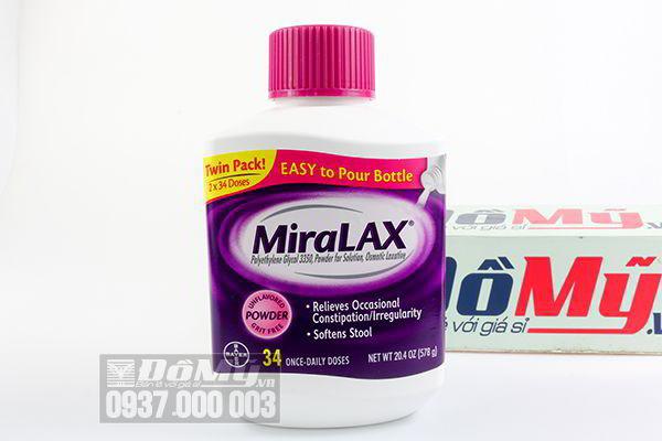 Bột uống trị táo bón miraLAX 578g của Mỹ